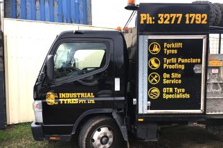 cut vinyl lettering-industrial tyres - stick it signs - the wrap booth - gold coast