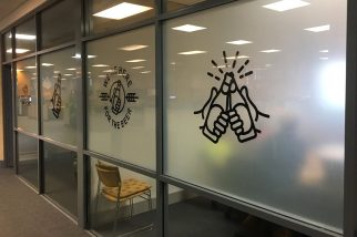 indoor signage - office - carlton united - stick it signs - the wrap booth - gold coast